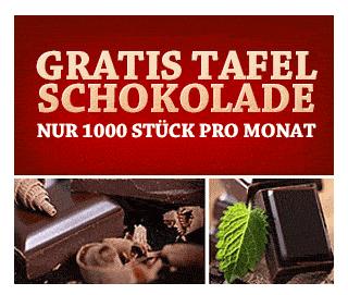 Schokolade: Produktprobe kostenlos & gratis bestellen