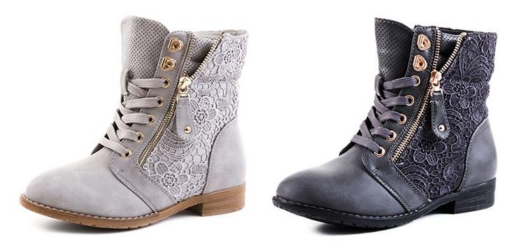 Stiefeletten & Boots mit Spitze & Lederoptik von Marimo