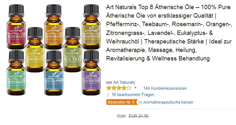 8 Ätherische Öle von Art Naturals