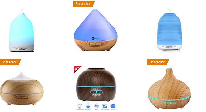 Aroma Diffuser, Duftzerstäuber & Luftbefeuchter gute Angebote bei Amazon