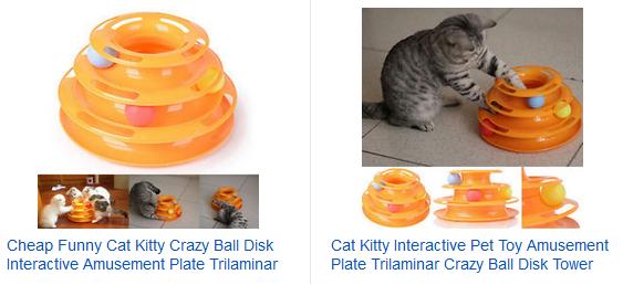 Katzenspielzeug Pyramide mit Bällen zu Gadgetpreisen