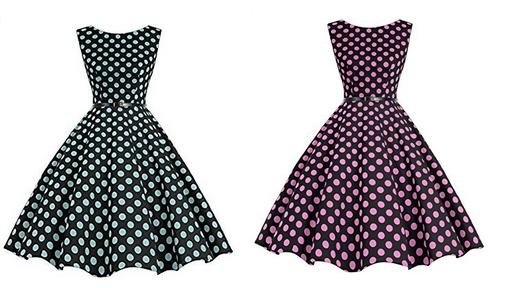 Polka Dot Sommerkleid Frauen Damen billig