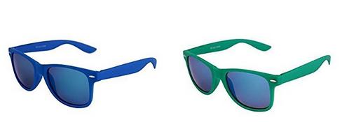 bunte Wayfarer-Retro-Sonnenbrille bei Amazon, Männer & Frauen