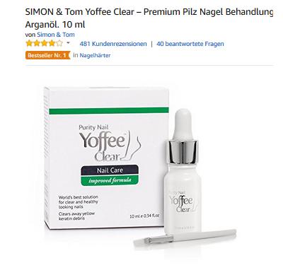 Yoffee Clear Nagelpflege