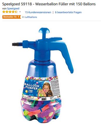Balloon Pumper, Wasserbomben-Fueller