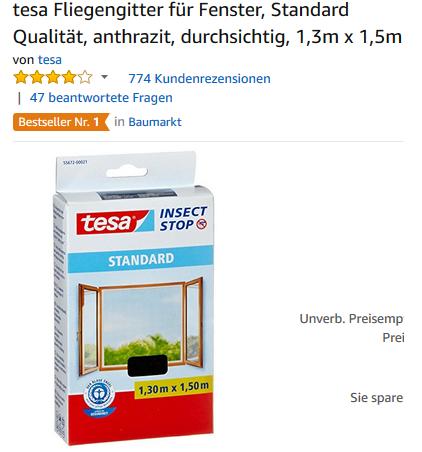 Fliegengitter & Insektennetz von tesa