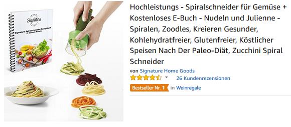 Gemüse-Spiralschneider