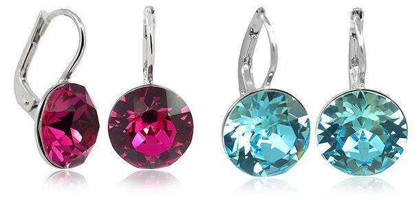 nobel-schmuck Ohrringe mit Kristallen von Swarovski