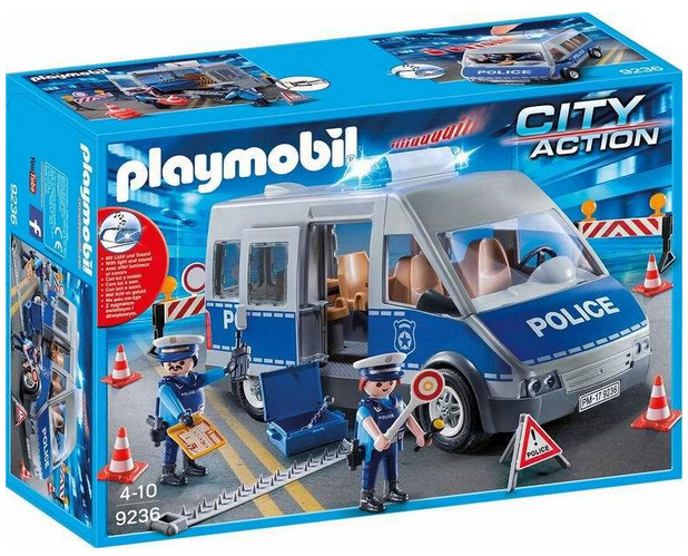 playmobil City Action Polizeibus und Strassensperre