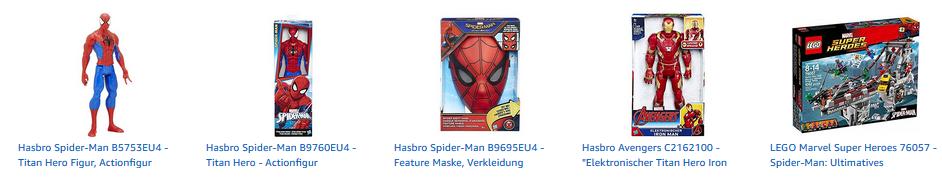 Spiderman Spielzeug bei Amazon