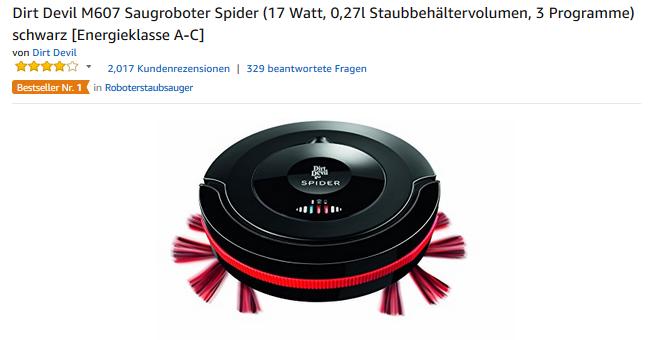 Dirt Devil M607 Saugroboter Spider billig