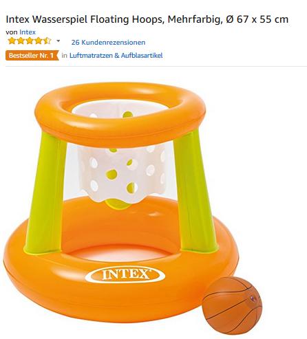 Floating Hoops von Intex Wasser-Basketball