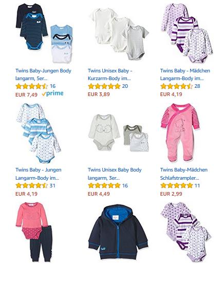 billige Babykleidung bei Amazon