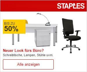 reduzierte Büromöbel bei Staples