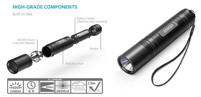 Anker Taschenlampe LC40 nur 9,99€