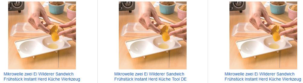 Eierkocher für die Mikrowelle - ebay.de Screenshot
