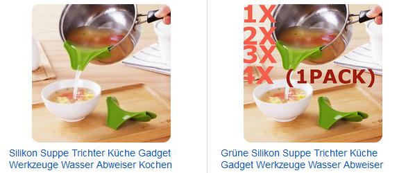 Trichter für Suppe und Soße als ebay-Gadget