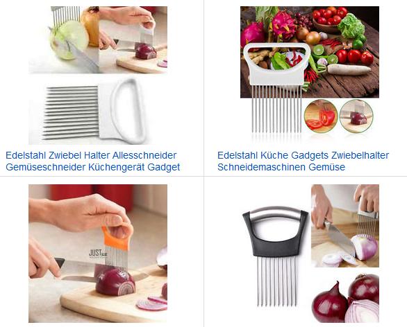 Zwiebelhalter-Gadget zum Gemüse schneiden