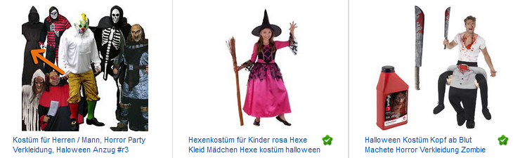 Halloween-Verkleidungen bei ebay.de