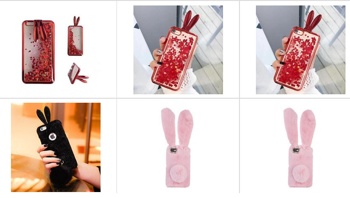 Handyhüllen mit Hasenohren bei ebay