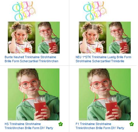 Strohhalmbrille - Trinkspaß für Kinder & Erwachsene