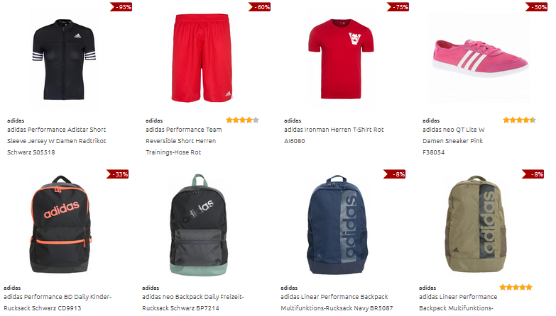 adidas-Angebote bei Outlet46