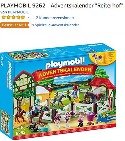 playmobil Reiterhof Adventskalender 9262