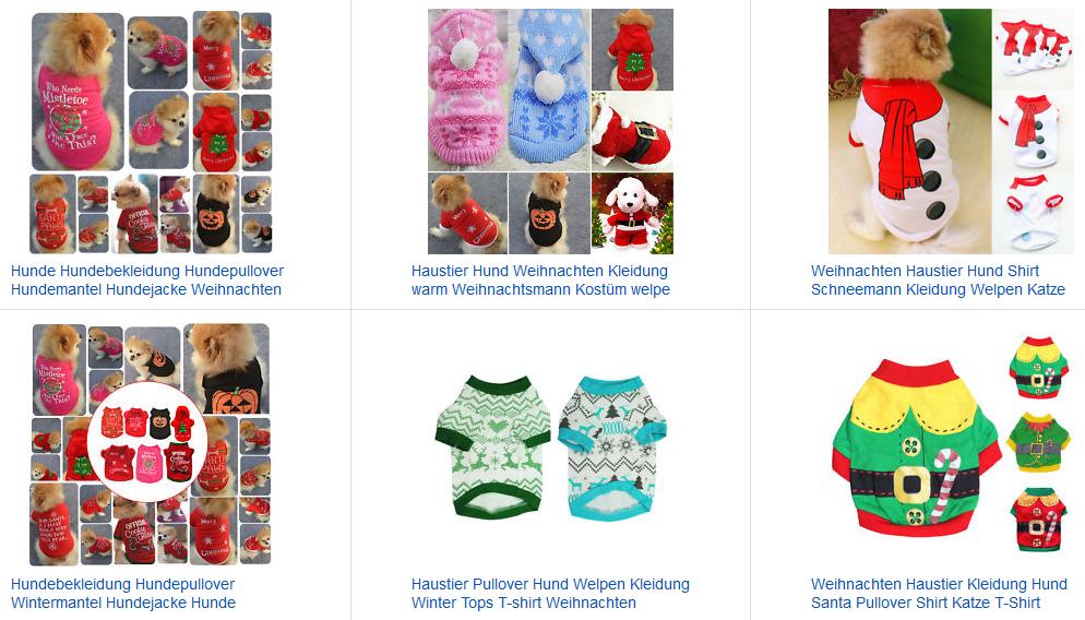 Weihnachtspullover für Hunde billig bei ebay
