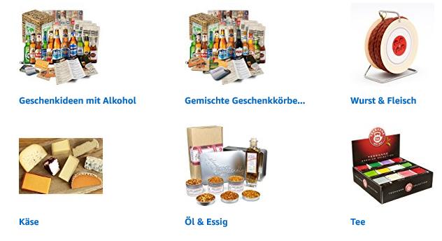 Weihnachtsgeschenke mit Feinkost finden bei Amazon mit Feinkost