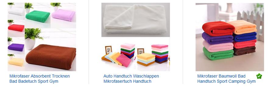 mikrofaser handt cher nur 1 07 euro inklusive versand. Black Bedroom Furniture Sets. Home Design Ideas