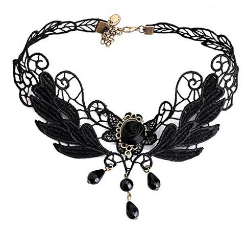Vintage-Choker-Kragen-Halskette extrem billig & im Gothic-Stil