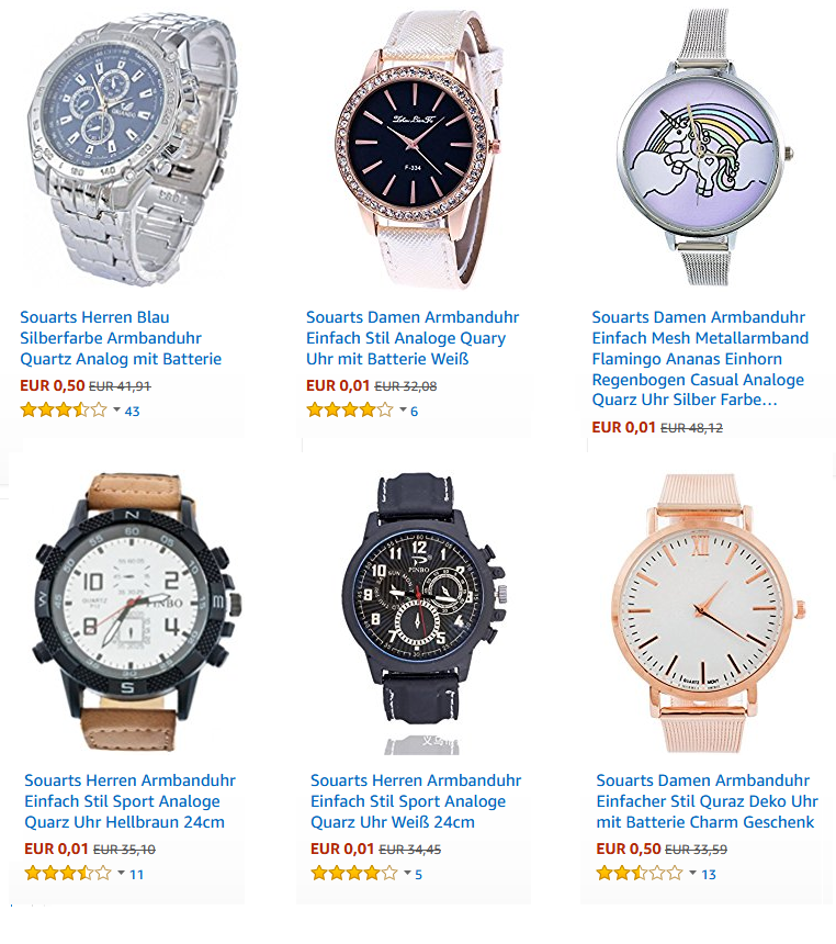 Sourts Armbanduhren bei Amazon