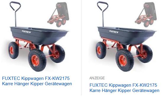 FUXTEC Kippwagen