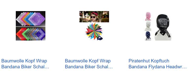 Bandana nur 1 Euro mit Versand