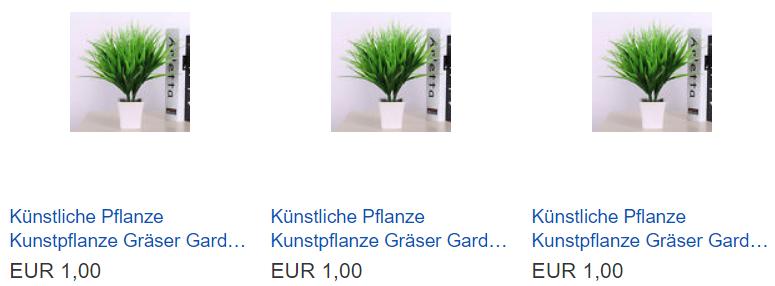 Künstliche Pflanze Kunstpflanze Gräser