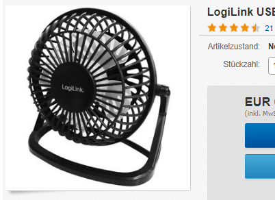 LogiLink USB-Ventilator