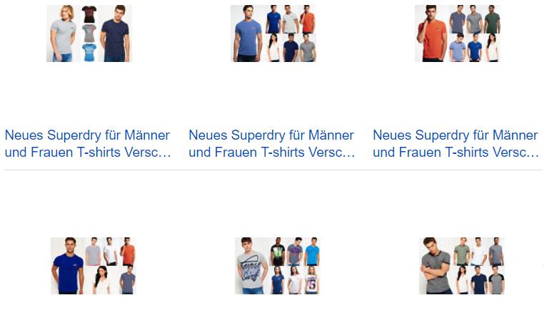 Superdry T-Shirts für Männer und Frauen
