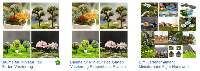 Miniaturbäume bei ebay - 1 Euro mit Versand