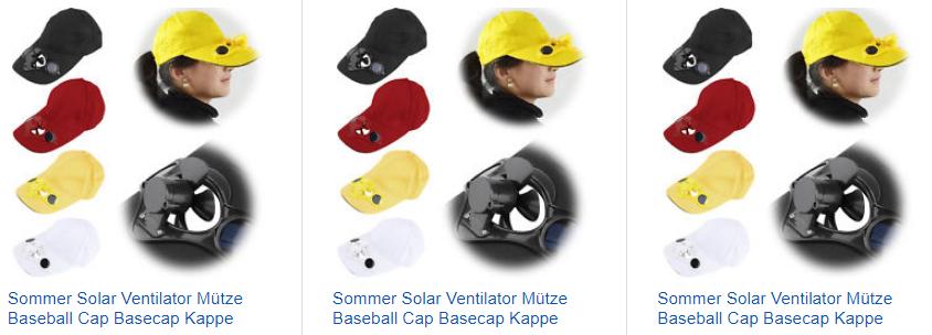 Solar-Ventilator-Caps bei ebay