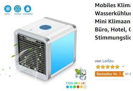 mobile Klimaanlage billig bei Amazon