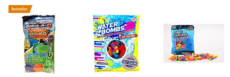 selbstschließende Wasserbomben