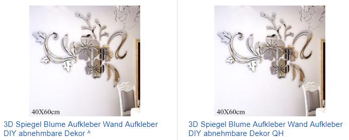 3D-Spiegel-Aufkleber als Blume