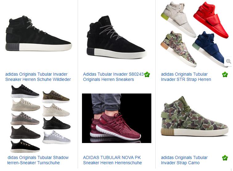 adidas Originals Herren Tubular, ebay.de Screenshot