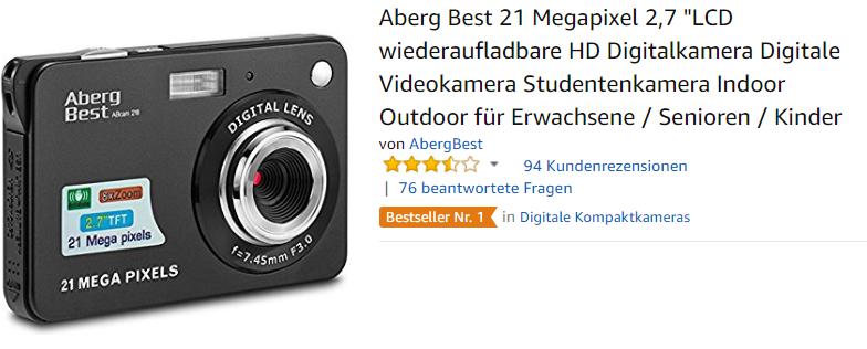 wiederaufladbare HD-Digitalkamera von AbergBest