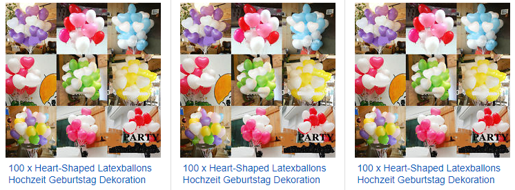 100 Heart-Shaped ballons