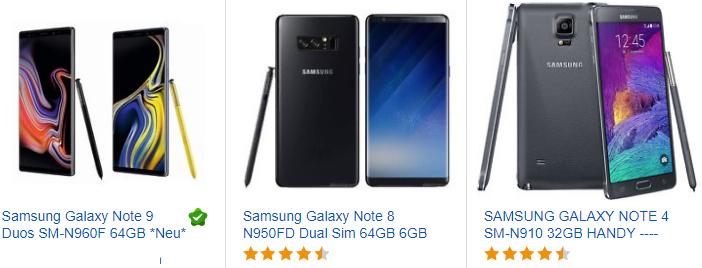 Samsung Galaxy Note Angebote & Schnäppchen