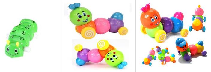 Baby Kids Caterpillar Wind Up - ebay.de Screenshot