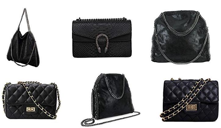 Handtaschen mit Ketten als Henkel & Träger
