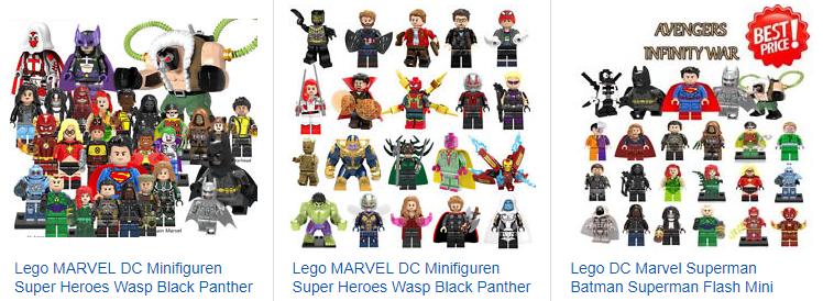 ebay.de Screenshot - LEGO MARVEL DC Minifiguren