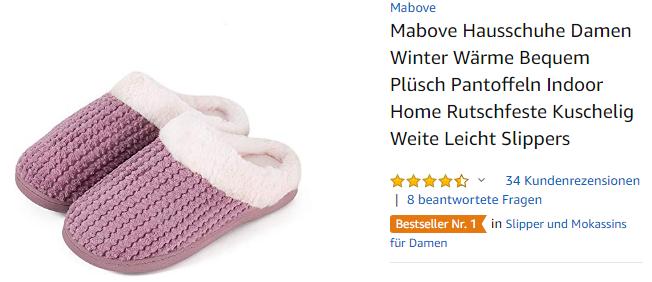 Mabove Damen-Hausschuhe